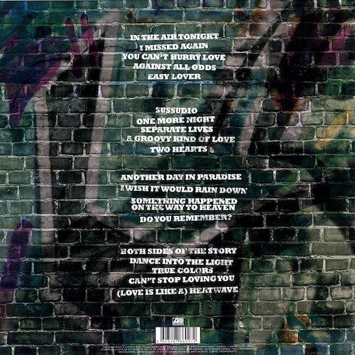Contra portada Vinilo doble de Phil Collins The Singles UPC 0603497860272