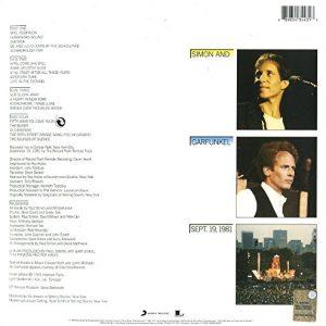Contra Portada Vinilo Simon & Garfunkel – The Concert In Central Park