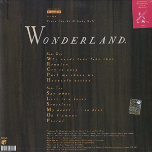 Vinilo Erasure Wonderland